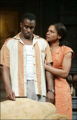 Sean Combs and Audra McDonald in A Raisin in the Sun, 2004
