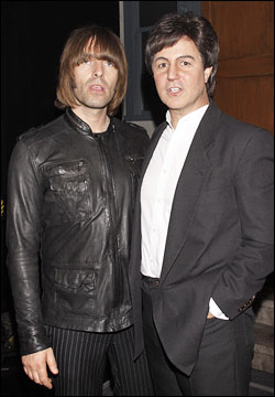 Liam Gallagher and Joey Curatolo