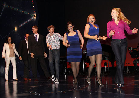 The cast of Everyday Rapture at curtain call.