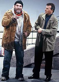 Skipp Sudduth (L) and Paul Reiser in <i>Riverside Drive</i>, part of Woody Allen's <i>Writer's Block</i>.