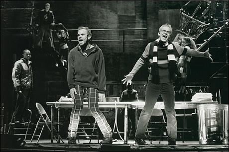 Norbert Leo Butz and Jim Poulos in Rent