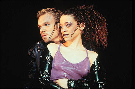 Norbert Leo Butz and Marcy Harriell in Rent
