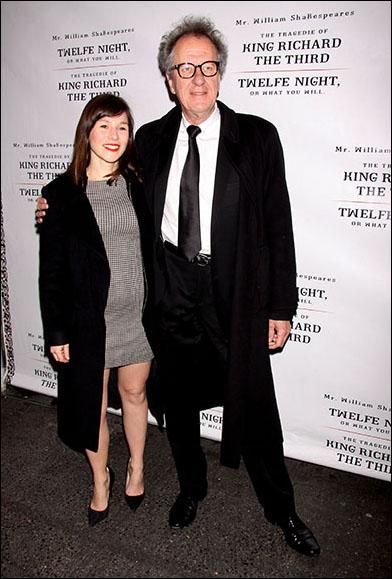 Yael Stone and Geoffrey Rush