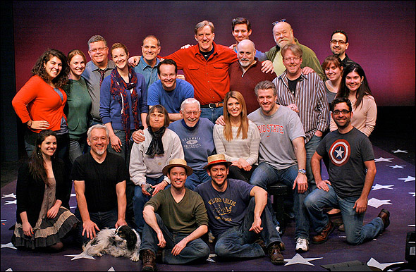 The cast and company of Roadside