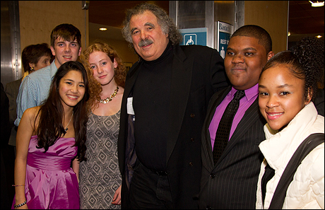 Eric Krebs and members of the Rosetta LeNoire Musical Theatre Teen Academy