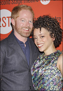 Jesse Tyler Ferguson and Marcy Harriell