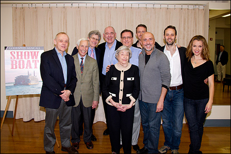 Bruce Pomahac, Michael P. Price, Ted Chapin, Lenny Wolpe, Michael O'Flaherty, Ben Davis, Rob Ruggiero, Noah Racey, Sarah Uriarte Berry and Alice Hammerstein Mathias (front)