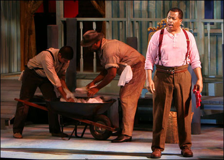 Michel Bell (right) and the cast of Show Boat