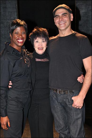 Deidre Goodwin, Chita Rivera and Howard Kaye