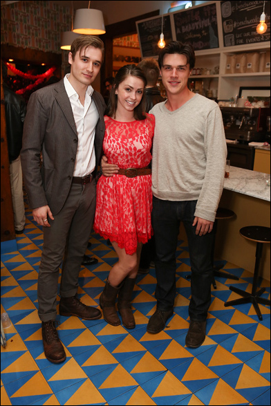 Seth Numrich, Dylan Moore and Finn Wittrock
