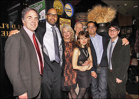 Tim Sanford, Victor Williams, Michele Pawk, Reed Birney, Celia Keenan-Bolger, Adam Bock and Trip Cullman