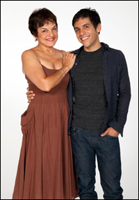 Priscilla Lopez with playwright Matthew Lopez