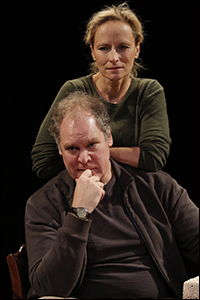 Jay O. Sanders and Laila Robins in <i>Sorry</i>