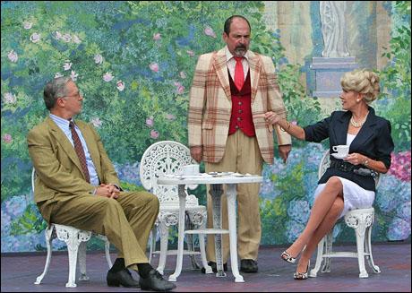 Tom Hewitt, Lewis J. Stadlen and Leslie Denniston