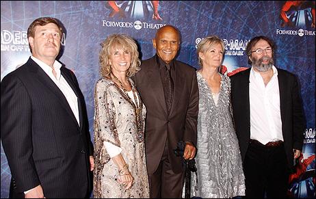 Jeremiah J. Harris, Pamela Belafonte, Harry Belafonte, and Michael Cohl