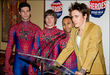 Kevin Aubin, Christopher Tierney, Emmanuel Brown and Reeve Carney