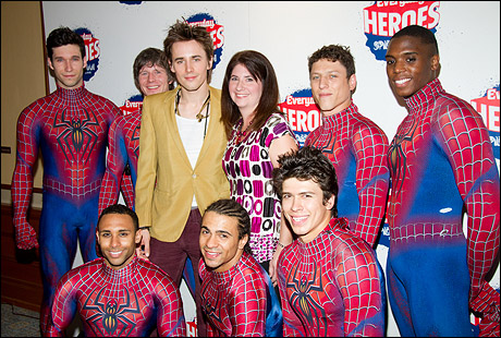 Back: Kevin Aubin, Christopher Tierney, Reeve Carney, Diane Pagan, Ari Loeb and Daniel Curry Front: Emmanuel Brown, Marcus Bellamy and Craig Henningsen