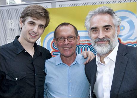James Leighton, playwright Timothy Mason and Mark Elliot Wilson