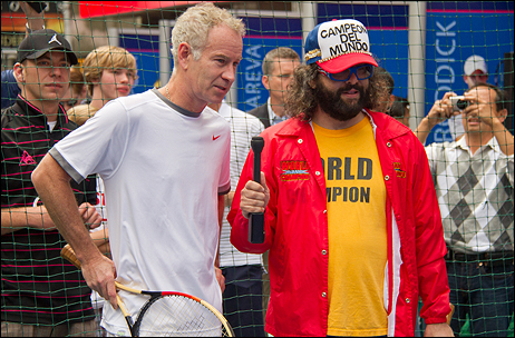 John McEnroe and Judah Friedlander