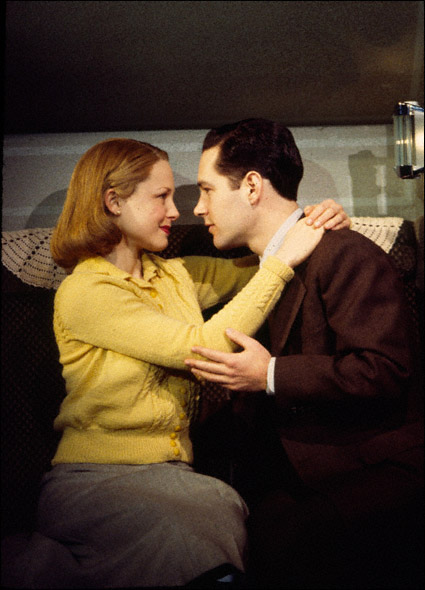Arija Bareikis and Paul Rudd