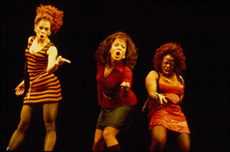 Lynn Sterling, Pamela Isaacs and Lillias White in The Life, 1997