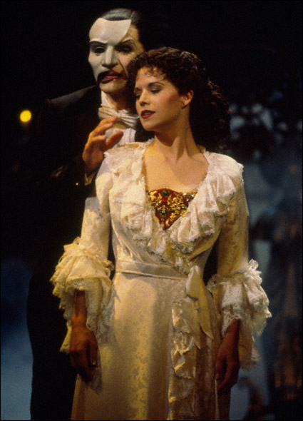 Howard McGillin and Sarah Pfisterer in The Phantom of the Opera