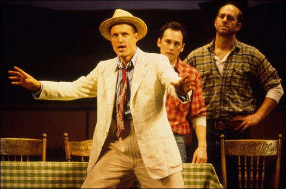 Woody Harrelson, David Aaron Baker, and John Bedford Lloyd