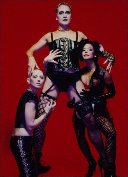 Joan Jett, Tom Hewitt, and Daphne Rubin-Vega in a promotional shot