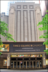 The present-day Times Square Church
