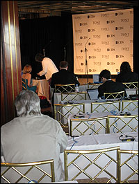 The Tony Awards press room at Radio City Music Hall.