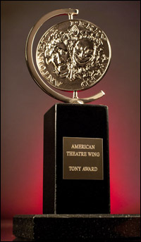 The current Tony Award statue