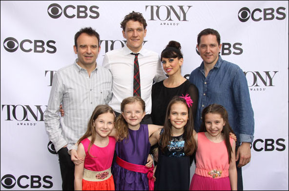 Matthew Warchus, Gabriel Ebert, Lesli Margherita, Bertie Carvel, Sophia Gennusa, Milly Shapiro, Oona Laurence and Bailey Ryon