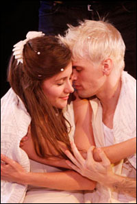 Juliette Trafton and Aaron Carter in <i>The Fantasticks</I>