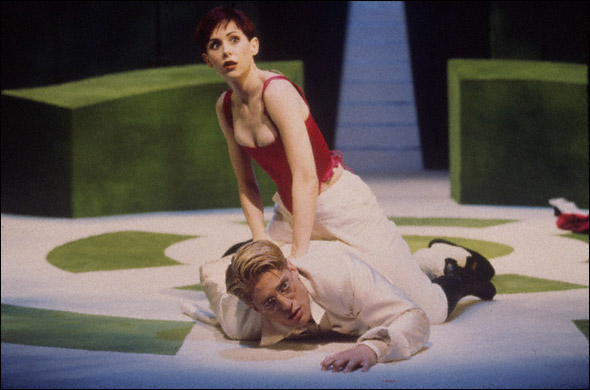 Susan Egan and Christopher Sieber