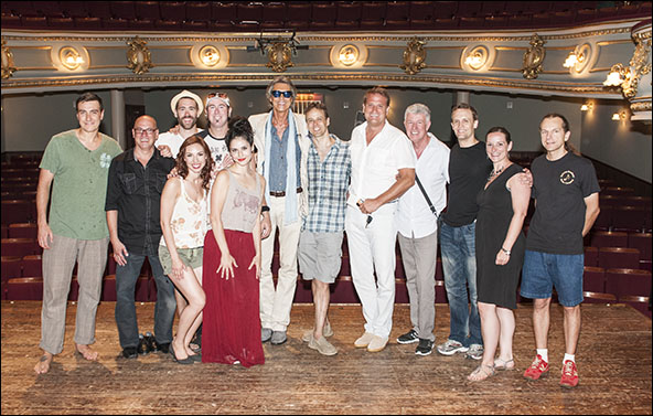 Tommy Tune with the cast and creative team