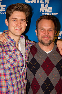 Aaron Tveit and Norbert Leo Butz