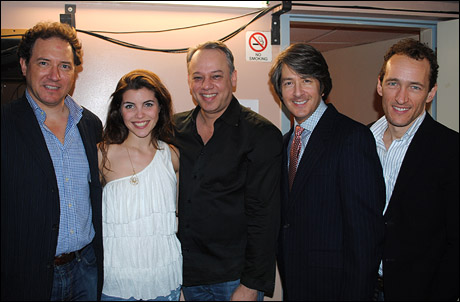 Producer Kevin McCollum, Josefina Scaglione, Roy Miller, Bradley Reynolds and Jeffrey Seller