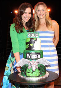 <i>Wicked</i> cast members Lindsay Mendez and Katie Rose Clarke