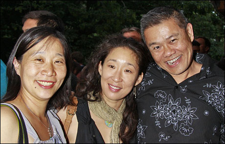 Diana Son, Sandra Oh and Chay Yew