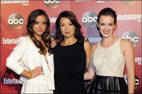 Chloe Bennet,  Ming-Na Wen, Elizabeth Henstridge