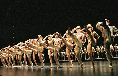 The cast of the 2006 revival of A Chorus Line