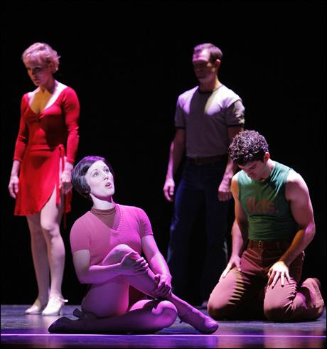 Charlotte d'Amboise, Mara Davi, Brad Anderson, Tony Yazbeck in the 2006 Broadway revival of A Chorus Line