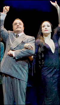 Nathan Lane and Bebe Neuwirth in <i>The Addams Family</I>