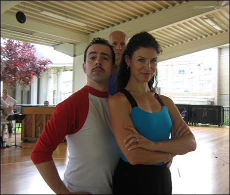 Gomez + Morticia. Rob + Jenny Powers. Last Year's Bert + Mary Poppins. ( Photobomb by Lurch-Bill Ryall)