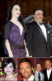 <I>The Addams Family</i> stars Bebe Neuwirth with Nathan Lane; and Krysta Rodriguez; guests Hugh Jackman, Matthew Broderick with Victor Garber