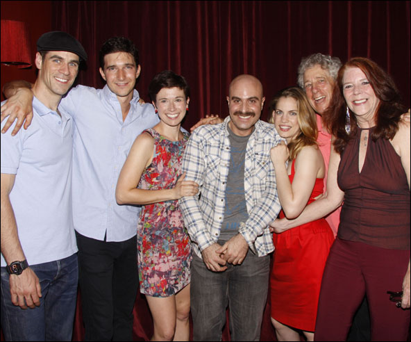 Eddie Cahill, Jake Silbermann, Hannah Cabell, David Adjmi, Anna Chlumsky, Bill Buell and Kate Buddeke
