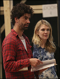 Hamish Linklater and Lily Rabe in rehearsal