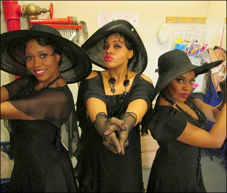 """Rosena, Carmen and I giving you Charlie's Angels. Rosena didn't get the """"sass"""" memo."""