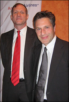 Director Mark Brokaw and playwright Patrick Marber.