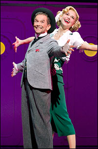 Joel Grey and Sutton Foster in <i>Anything Goes</i>.